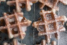 Waffles  / Just waffles.  Even if they're not gluten-free waffles, pin them here for different flavor ideas. / by Denise Cicuto