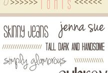 Fonts / by Jocelyn Harty