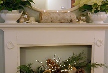 Christmas mantel / by Julie Lewis