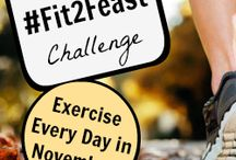 Fit 2 Feast / Join @SparkPeople for a daily fitness challenge, aiming for at least 10 minutes of exercise every day from  November 1 through Thanksgiving Day (Nov. 28). Use the hashtag #fit2feast along with us to share your progress each day! / by SparkPeople