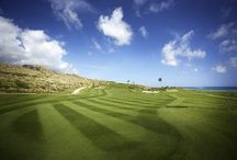 """Royal St Kitts Golf Club - http://www.royalstkittsgolfclub.com/ / The only golf course in the Caribbean boasting holes on the Atlantic Ocean and Caribbean Sea, the Royal St. Kitts Golf Club is a beautiful 18-hole, 71-par championship """"links""""-style course.  In 2003, it was remodeled by renowned Canadian architect Thomas McBroom to showcase St. Kitts' natural terrain.    / by St.Kitts Marriott Resort"""