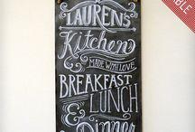 Chalkboard decor / by Amanda Finkenbine