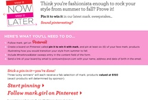 pin it to win it with mark. / by Samantha Williams