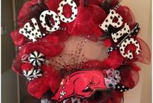 razorback wreaths / by Donna sue Haefling