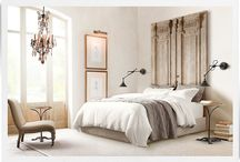 bedrooms. / by judi burrows-inspired (vintage.home.design)
