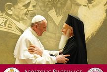 Apostolic Pilgrimage / Ecumenical Patriarch Bartholomew will be meeting with Pope Francis in Jerusalem, May 24 - 26th, 2014. This board will help commemorate this historic event. / by Greek Orthodox Archdiocese of America