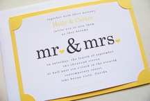 Wedding  invites, etc / by Megan S