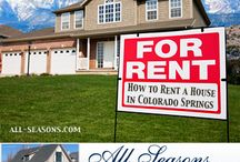 How to Rent Your House in Colorado Springs / So you have property in the Colorado Springs area, and you want to rent your house. When you think about everything involved in being a landlord, you might decide to not to pursue having an investment property. Thankfully, we can help! Enjoy our board, and visit our site at: http://www.all-seasons.com / by All Seasons LLC CRMC