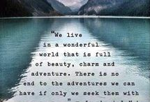 Inspirational Travel Quotes / Travel is inspiring and can change your life. This list of quotes are our favourite compilation from around the web.   / by The Planet D