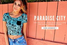 Paradise City Lookbook / Take me down to Paradise City! Flip through our new lookbook filled with exotic floral and animal inspired prints on pacsun.com: http://psun.co/sKkh / by PacSun