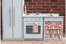 play kitchen ideas / by Heather Barron