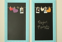 I just LOVE display boards / Chalkboards, cork boards, etc