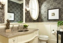 powder room & bath / by Jean Strong [Rosecliff & Sommerset]