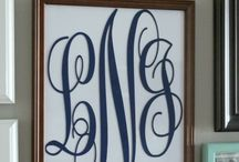 Monogram Me / Projects and Products with a Monogram / by House on the Way - Home Decor & Design Blog