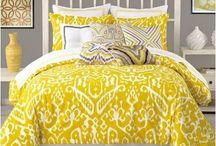 Yellow Bedding Sets / Yellow comforter sets, duvets, bedspreads and quilts. Yellow in the bedroom such as bedding, decor, lamps, rugs and more.  Everything yellow for the bedroom. / by Lesley Stevens
