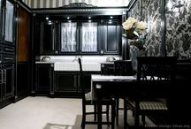 Black Kitchen Cabinets / Black Kitchen Cabinets, Contemporary style has managed to enter many kitchens because of its practicality and sleek finish. You can lay the foundations of a contemporary kitchen with the help of black kitchen cabinets. Black color is the latest to dominate modern appeal replacing the most popular kitchen colors white and silver. / by kitchen designs 2014 - kitchen ideas 2014 .