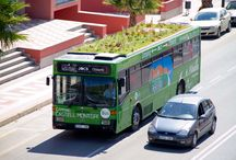 """""""Phyto Kinetic"""" Green Roofed Bus / by Urban Gardens"""