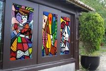 Portas & Janelas Adesivos de Arte / Portas e Janelas Adesivadas com arte. / by Jorge Laborda