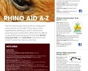 Special Rhino Issue / A special issue dedicated to the plight of the Rhino  / by Africa Geographic