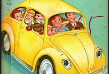 """VW's make me SMILE :) / Once a upon a time ago, I had a yellow, '74 Super Beetle. Miss my """"Sunshine Ray""""... / by Dino"""