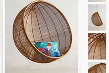 Hanging chair / Ideas for our own hanging chair / by Erica Schrijver