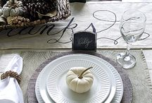 fall table settings / She of your decorativeide this fall / by Tracy Henry