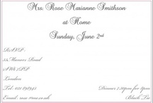 Adults personalised illustrated invitations  / by Lionheart Stationers