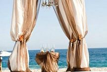 Beach wedding ideas. Elegance. Sophistication. Simple&Chic,  Beautiful. Serene. Candles. Altars. Decorations. Flower arrangement ideas / by Karen Me