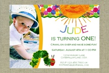 Very Hungry Caterpillar Party / When my son turned one, we threw him a party with a Very Hungry Caterpillar theme. Here are some resources we used, along with pins from our party showing the cake, favors, food, etc. / by Elizabeth LaBau @ SugarHero.com