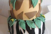 jungle theme cake ideas / by Melissa Sellers MacDonald