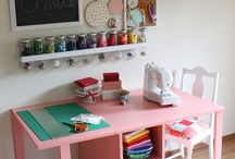 sewing space ideas / by sewinGiu