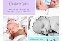Cute Baby Announcements / A place you can browse to find the perfect announcement to introduce your child to the world. A baby boy or baby girl or more than one baby at a time it's time to celebrate. / by Lasgalen Arts