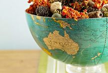 around the globe. / by judi burrows-inspired (vintage.home.design)