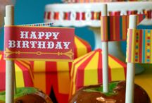 Vintage Carnival Circus birthday party / by Squared Party Printables