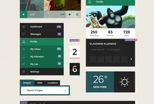 UI Kits / Web elements, mobile mockups, and other useful elements / by Designer First