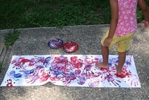 Big Art / Art with movement. Creating art and combining it with gross motor skills. Our kind of art. / by Jamie Reimer