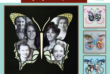 Flip Flop Butterfly Stencil / This Board shows different Photo Collage layouts all using the Flip Flop Butterfly Stencil as the design template. / by Lea France Scrapbooking (Photo Collage)