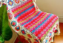 crochet: afghans, throws & blankets/ free #3 / by Amy Woods
