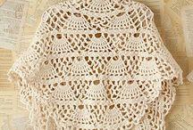 Crochet shawl,ponchos,,wrap,shrug / Chales, ponchos,capas, / by Martha Salazar