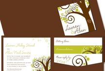 Wedding Invites for Outside Celebrations / by The Green Kangaroo, Inc.