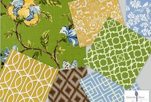 My complimentary fabric designs / by Sharon Barrett Interiors