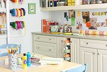 Craft Rooms I would love to have! / Can I transform my house in a gigantic craft room? MariaPalito is always forgetting her crayons in the living room and I understand what's a toddler without crafts supplies? Here is some inspiration to keep all the craft supplies in place and to create a beautiful place to have fun crafting. Enjoy ! Meanwhile I continue dreaming about my perfect Dreamy craft room.  / by Maria Palito