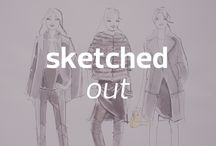 Sketched Out / A style sketch created by each designer showing now at Mercedes-Benz Fashion Week Berlin A/W 2014 Collections with the help of a Herlitz pen / by Mercedes-Benz Fashion Week