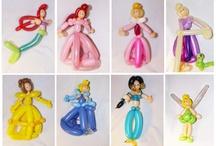 Balloon Disney Princess sculptures / Balloon art disney princess / by Jolly Holly Balloon Art
