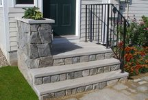 Front Yard Ideas / Front porch, pathway, stone, walkway, front door, curbside appeal, front yard, all ideas related to landscaping and yard beauty. / by ideadesigns
