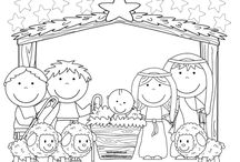 Christmas - Nativities / Coloring Pages / by Tanni Goodman