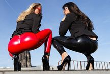 Ultra tight leggings with camel toe effect / You guys know that I love to provoke..I love to show my goods and wearing very tight clothes such as super tight leggings for example which have a nice camel toe effect! But watch yourself on my board here! / by Stella Van Gent