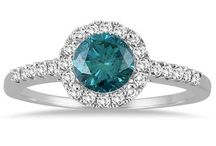 Gemstone Halo Rings / by Szul Jewelry