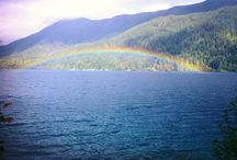 Crescent Lake, WA Rainbow / by Richard Imus