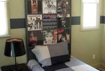 Headboard with Album Covers / by Isaac Shalev